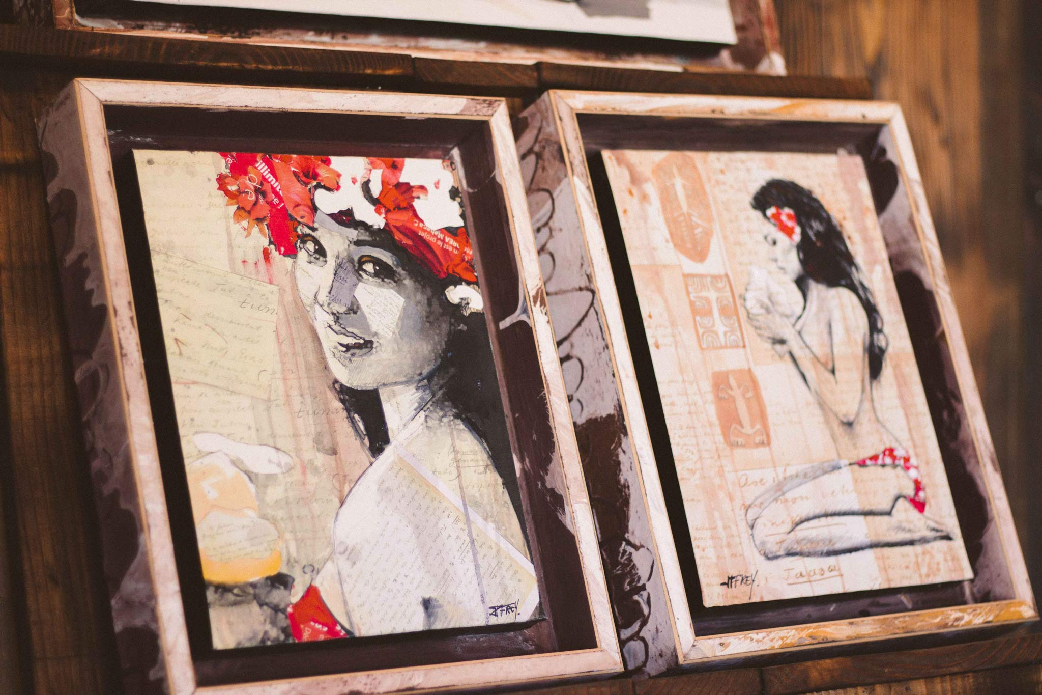 oeuvre art bora bora polynésie française jean-pierre frey artist studio