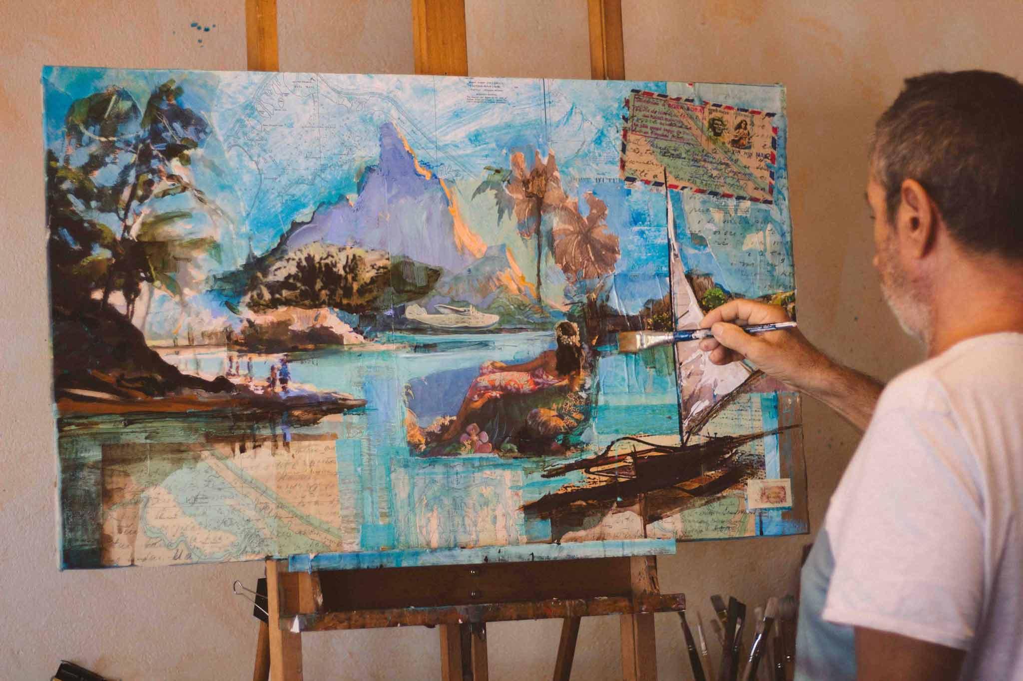 art artiste peintre bora bora polynésie française jean-pierre frey